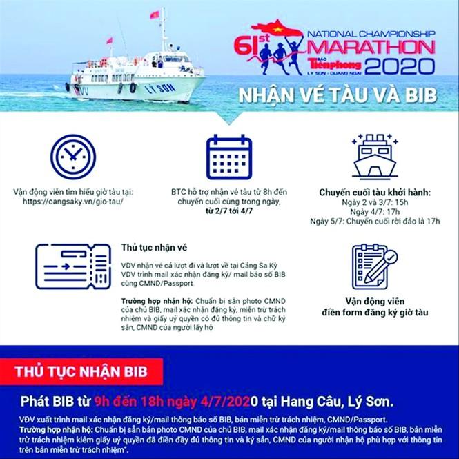 Hướng dẫn di chuyển tới Lý Sơn dự giải Tiền Phong Marathon